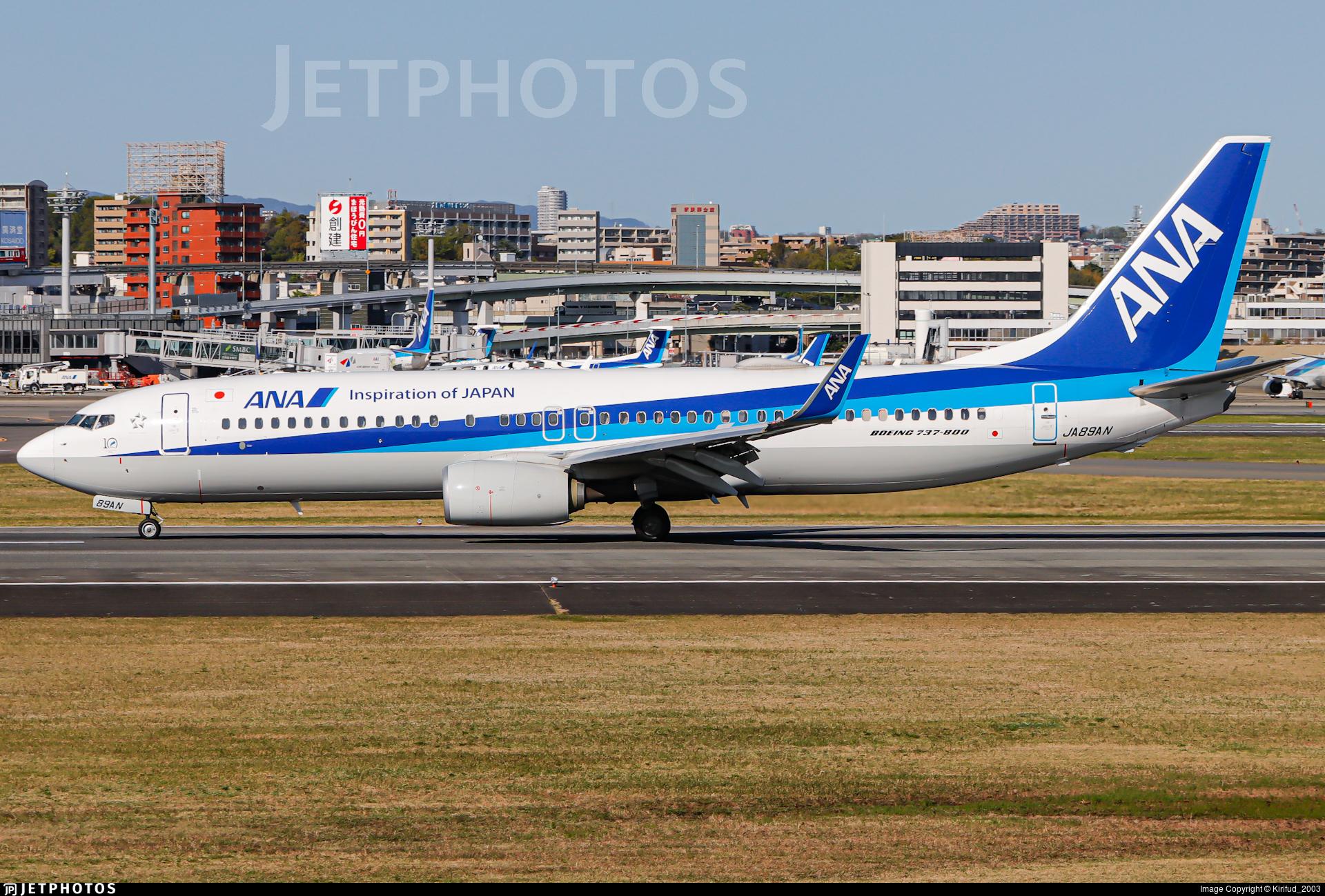 JA89AN - Boeing 737-8AL - All Nippon Airways (ANA)