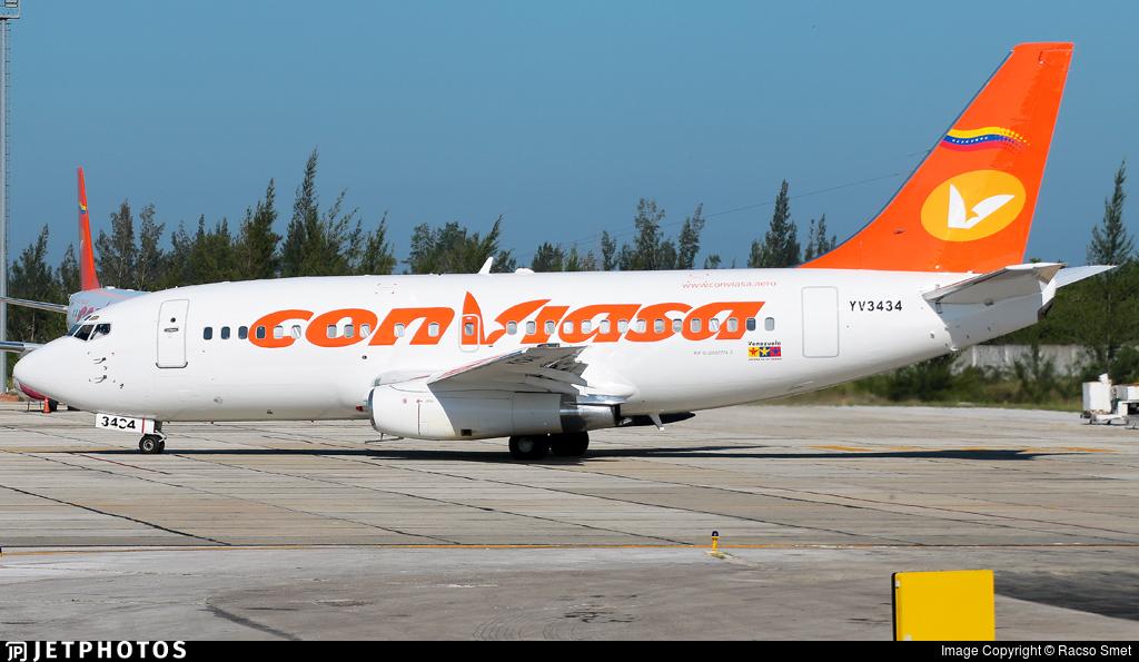 YV3434 - Boeing 737-2N1(Adv) - Conviasa