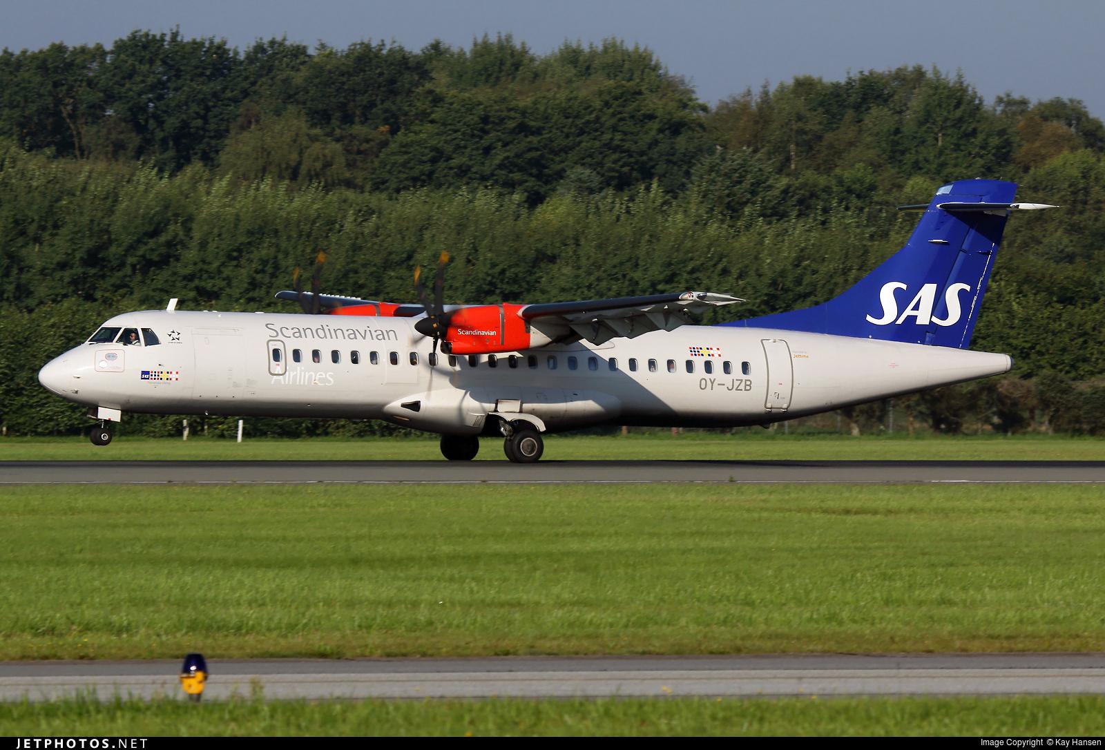 OY-JZB - ATR 72-212A(600) - Scandinavian Airlines (Jettime)