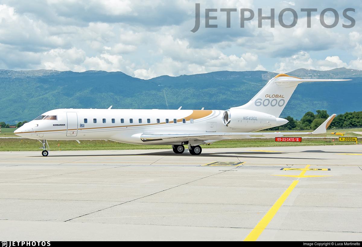 N543GL - Bombardier BD-700-1A10 Global 6000 - Bombardier Aerospace