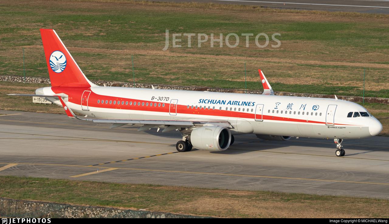 B-307D - Airbus A321-271N - Sichuan Airlines