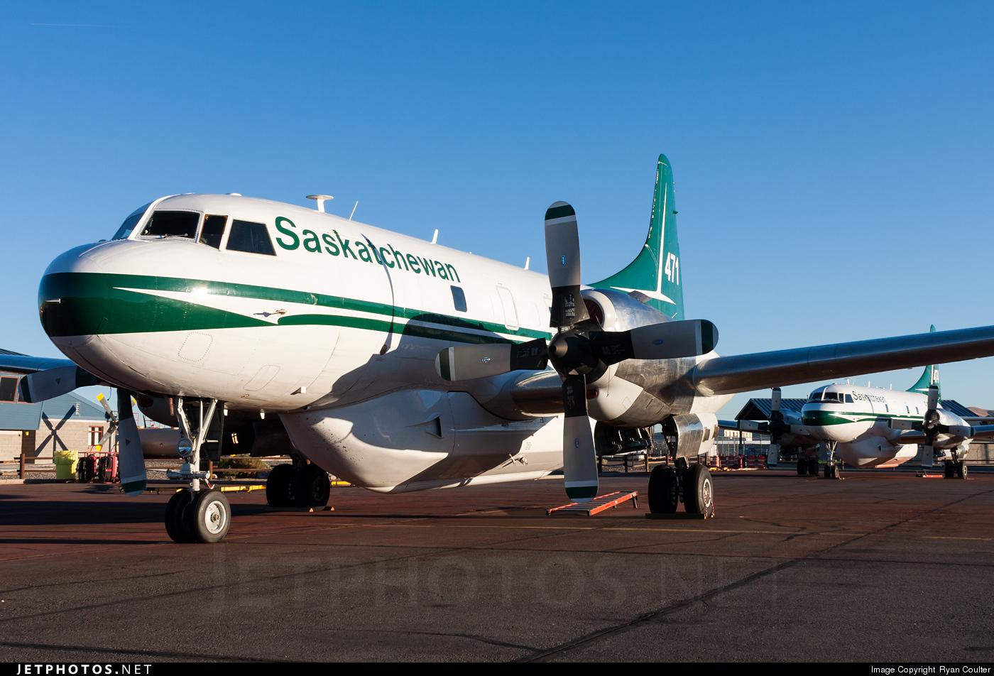 C-GSKR - Convair CV-580 - Canada - Government of Saskatchewan