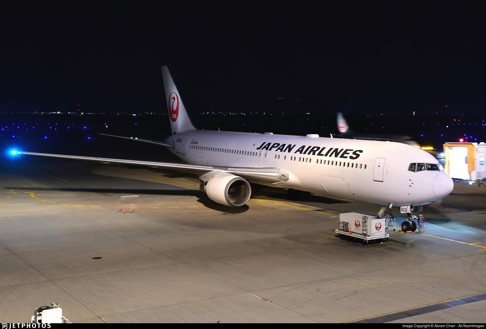 JA603J - Boeing 767-346(ER) - Japan Airlines (JAL)