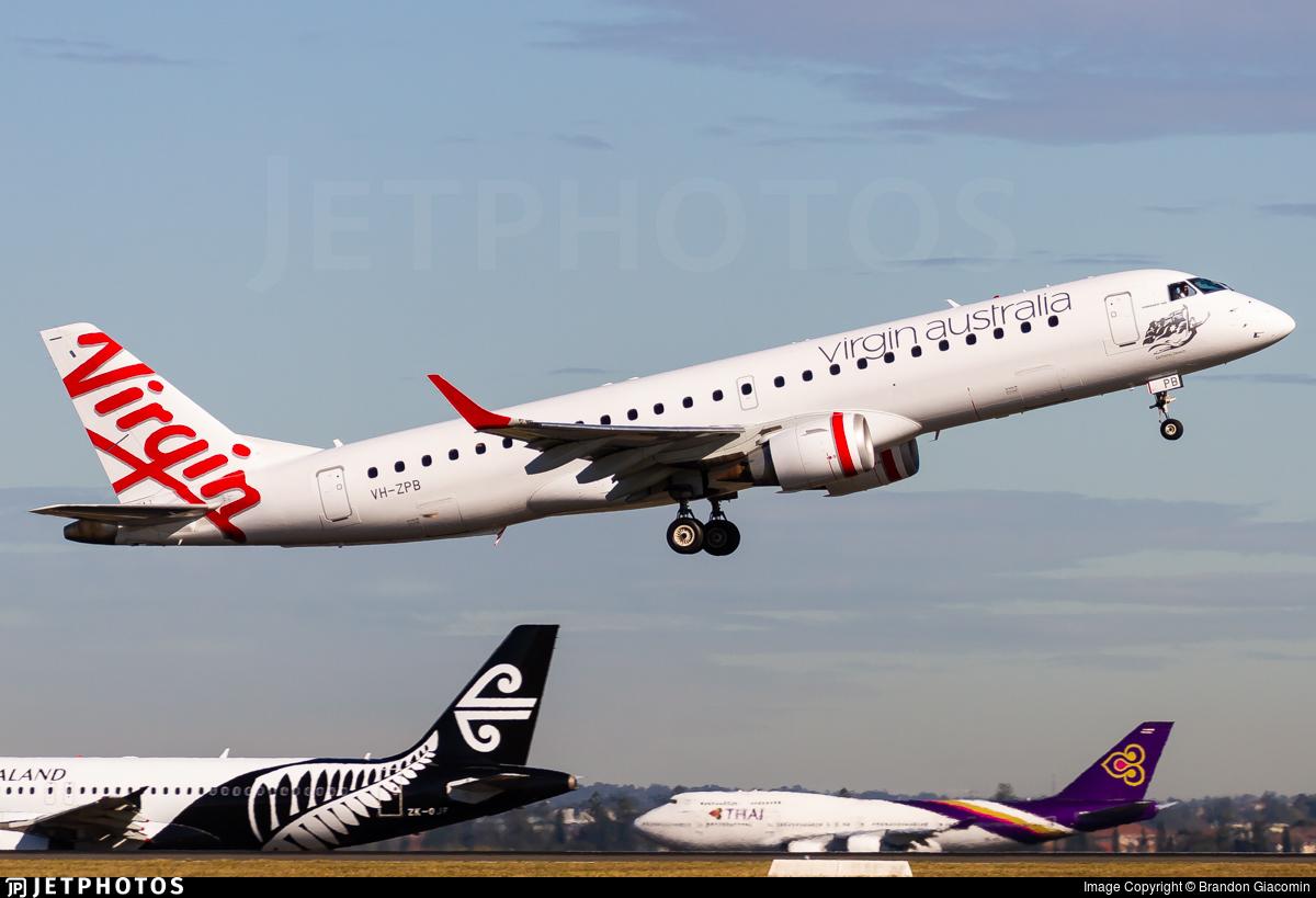 VH-ZPB - Embraer 190-100IGW - Virgin Australia Airlines