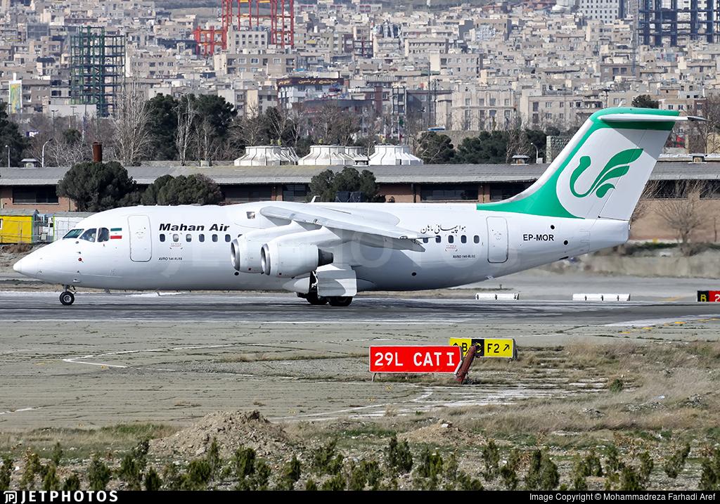 EP-MOR - British Aerospace Avro RJ85 - Mahan Air