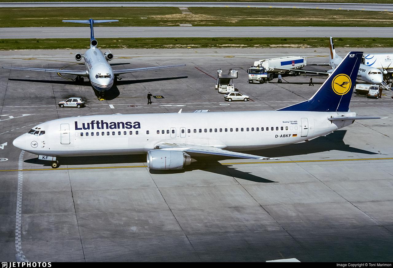 D-ABKF - Boeing 737-430 - Lufthansa
