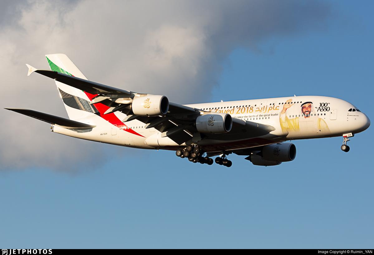 A6-EUV - Airbus A380-842 - Emirates