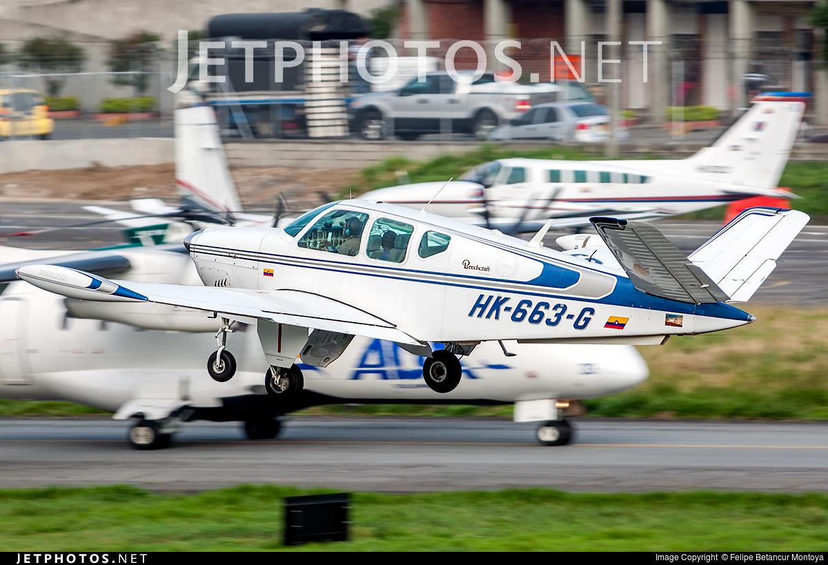 HK-663-G - Beechcraft V35 Bonanza - Private