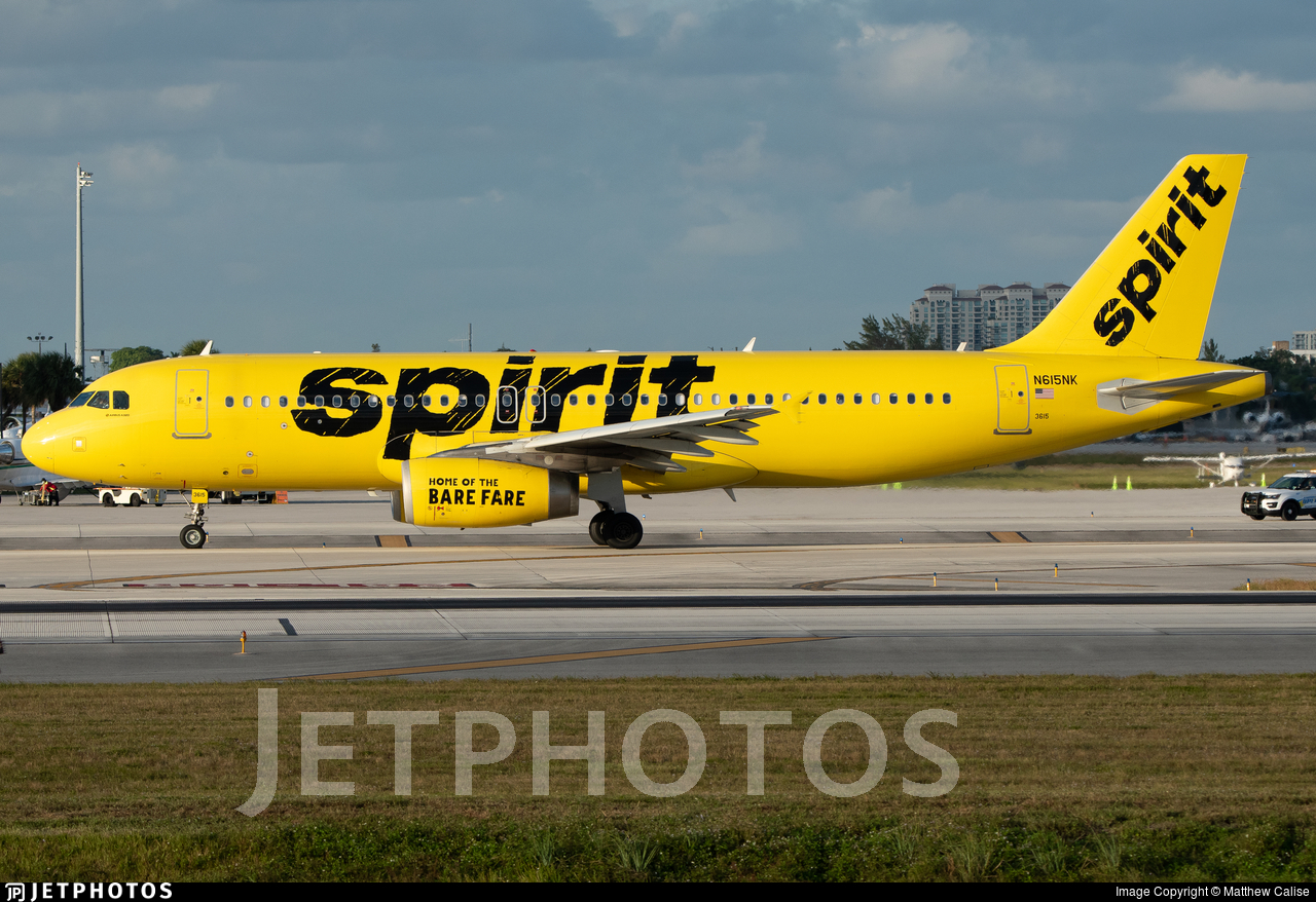 N615NK - Airbus A320-232 - Spirit Airlines