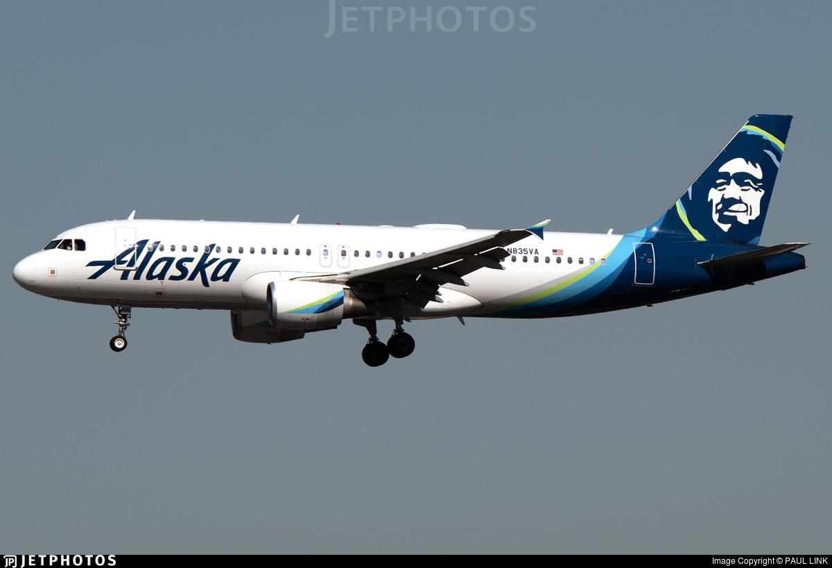 N835VA - Airbus A320-214 - Alaska Airlines