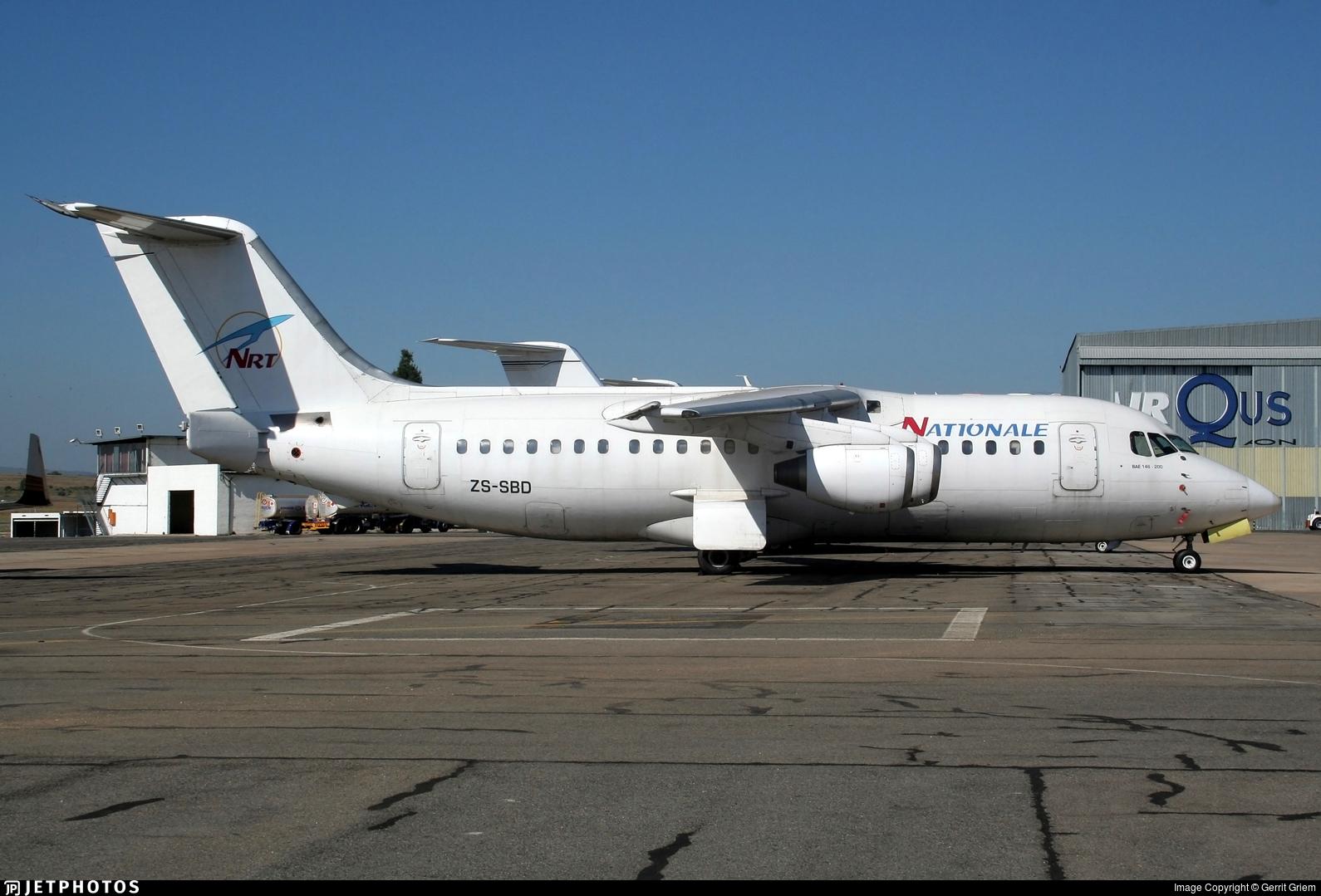 ZS-SBD - British Aerospace BAe 146-200A - Nationale et Regionale Transport