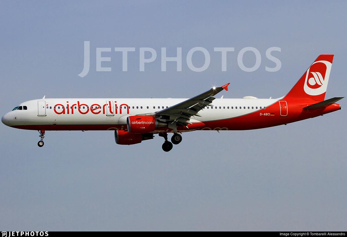 D-ABCI - Airbus A321-211 - Air Berlin