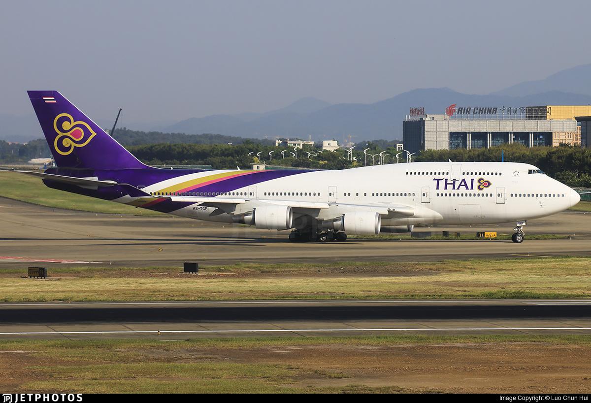 HS-TGF - Boeing 747-4D7 - Thai Airways International