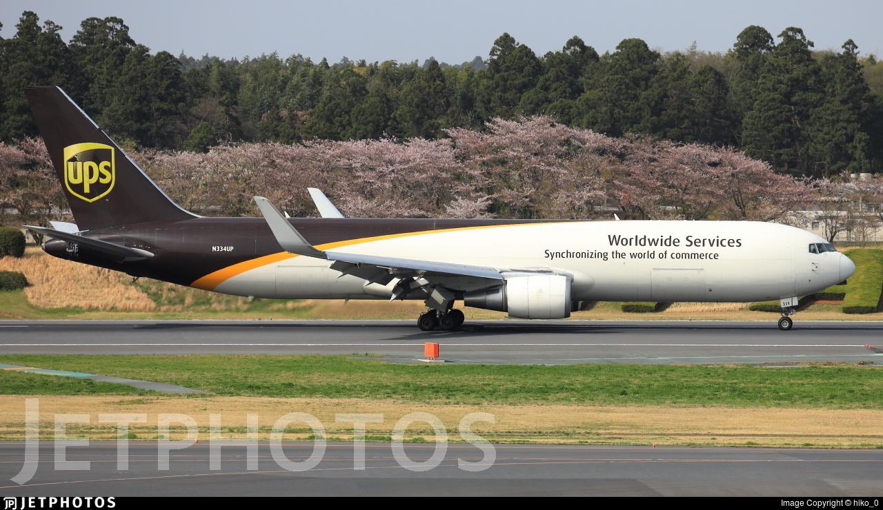 N334UP - Boeing 767-34AF(ER) - United Parcel Service (UPS)