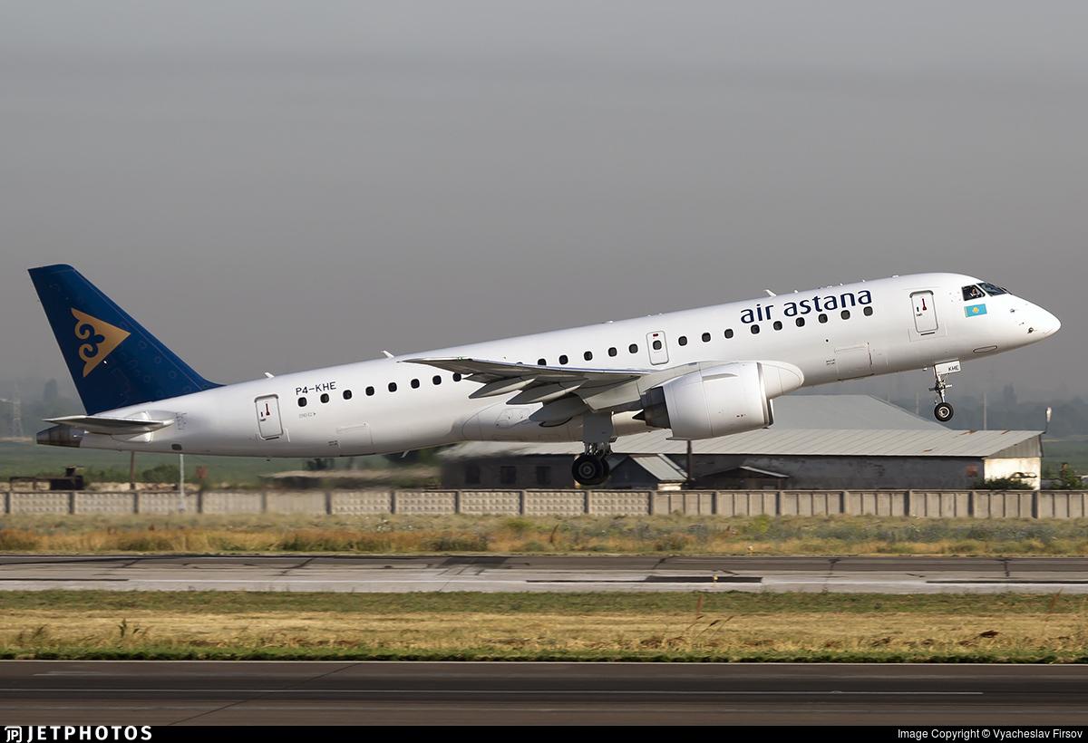 P4-KHE - Embraer 190-300STD - Air Astana