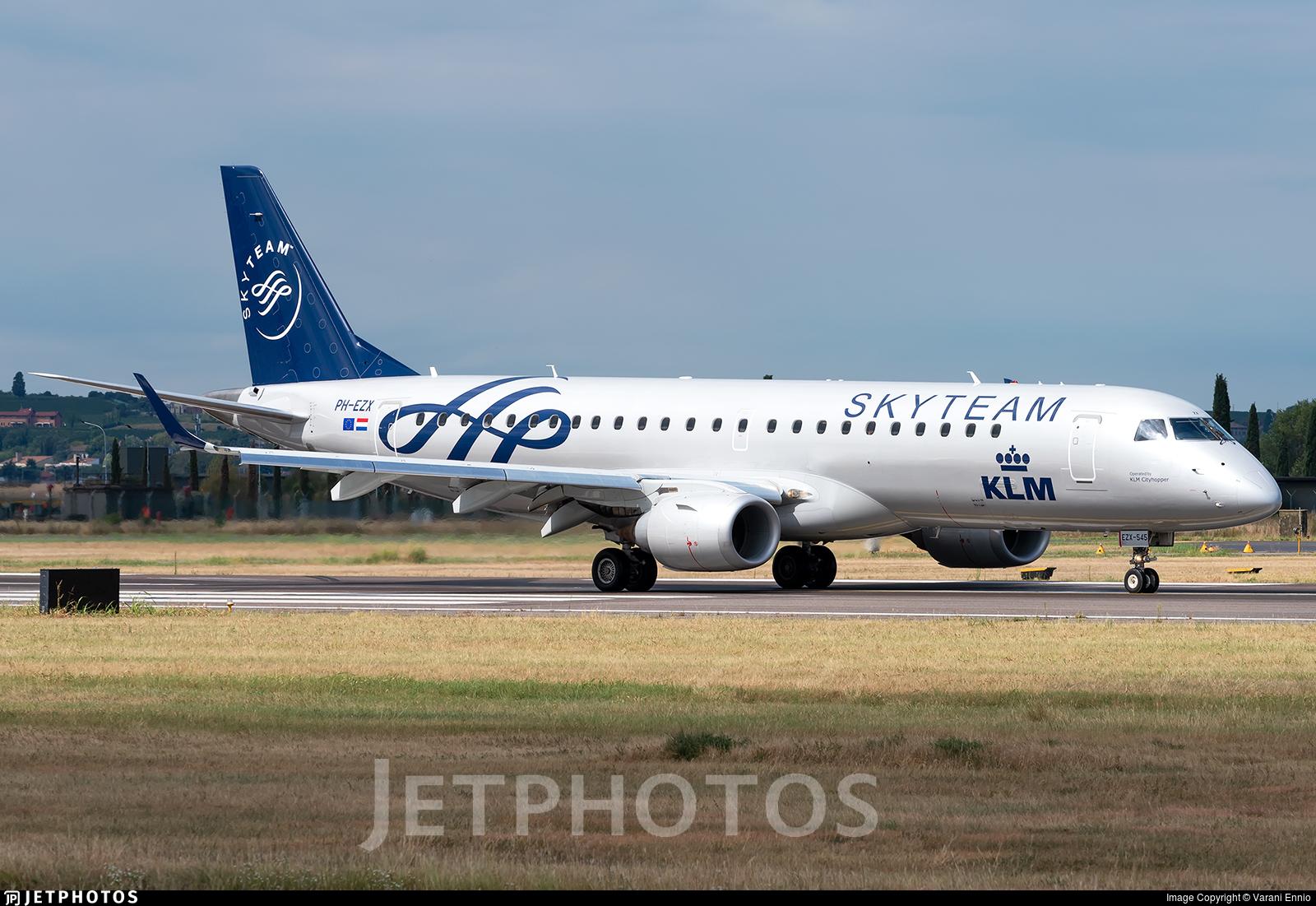 PH-EZX - Embraer 190-100STD - KLM Cityhopper