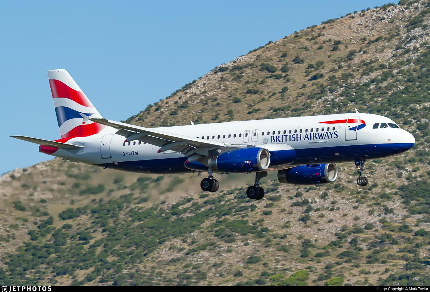 G-GATM - Airbus A320-232 - British Airways