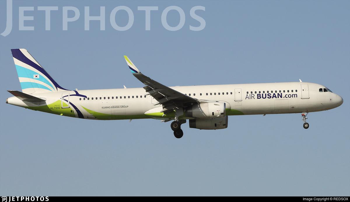 HL7210 - Airbus A321-231 - Air Busan