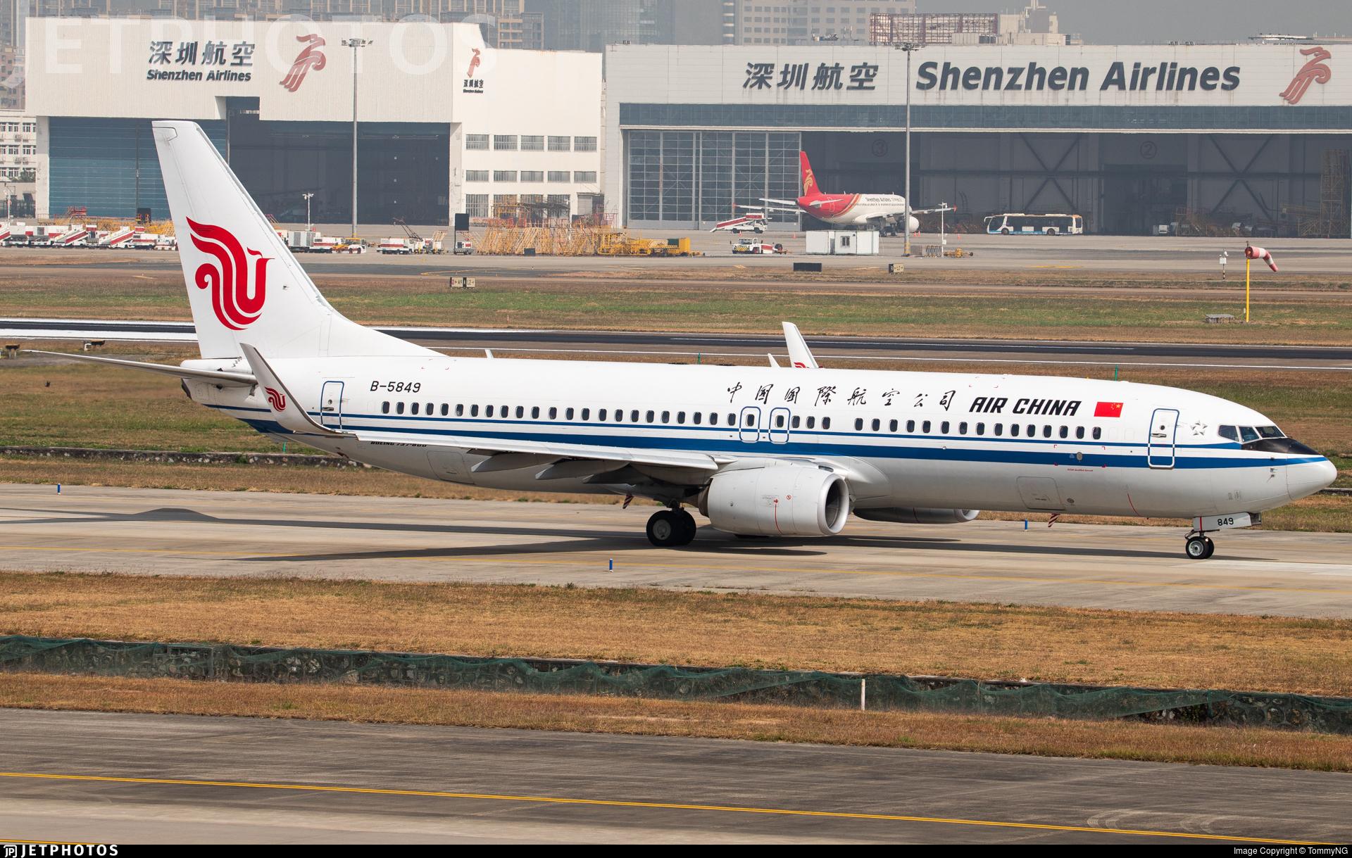 B-5849 - Boeing 737-89L - Air China