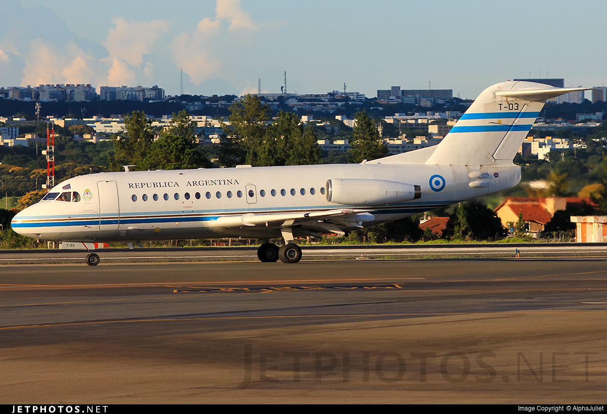T-03 - Fokker F28-1000 Fellowship - Argentina - Government