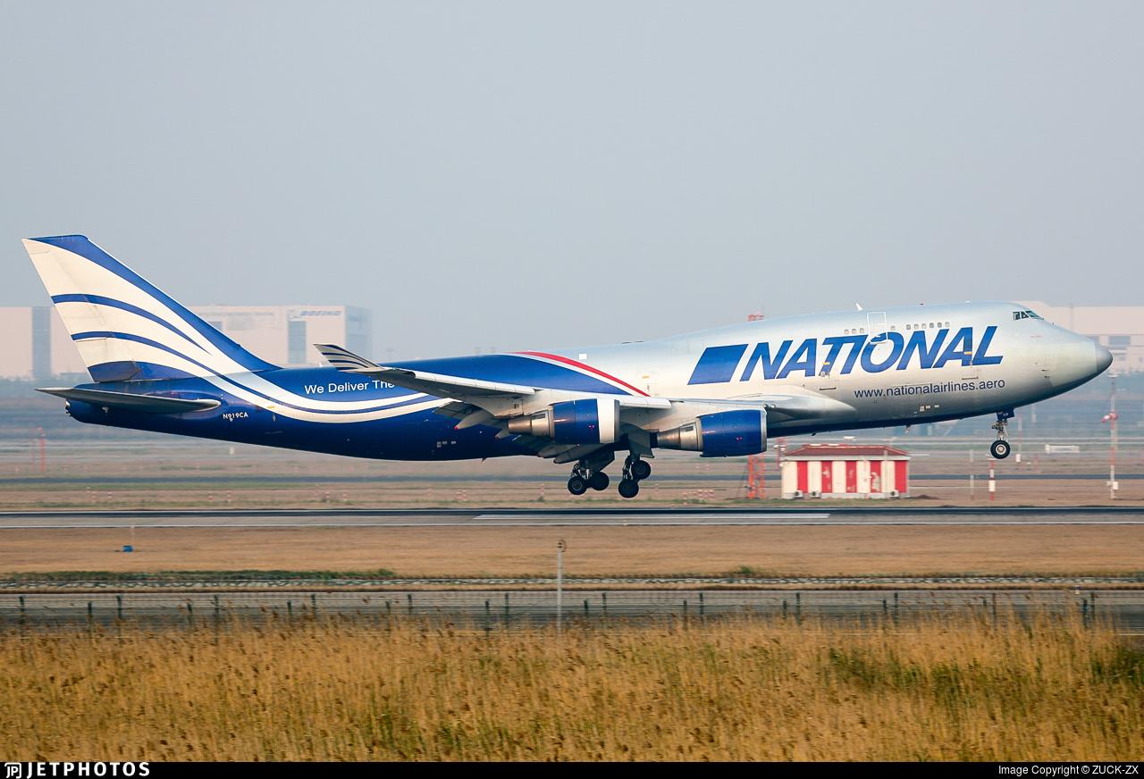 N919CA - Boeing 747-428(BCF) - National Airlines