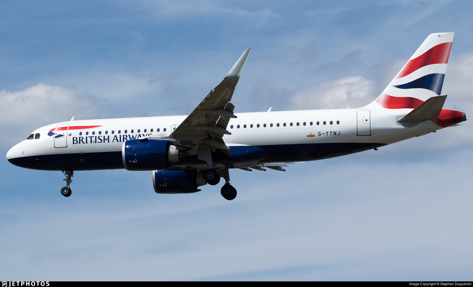 G-TTNJ - Airbus A320-251N - British Airways