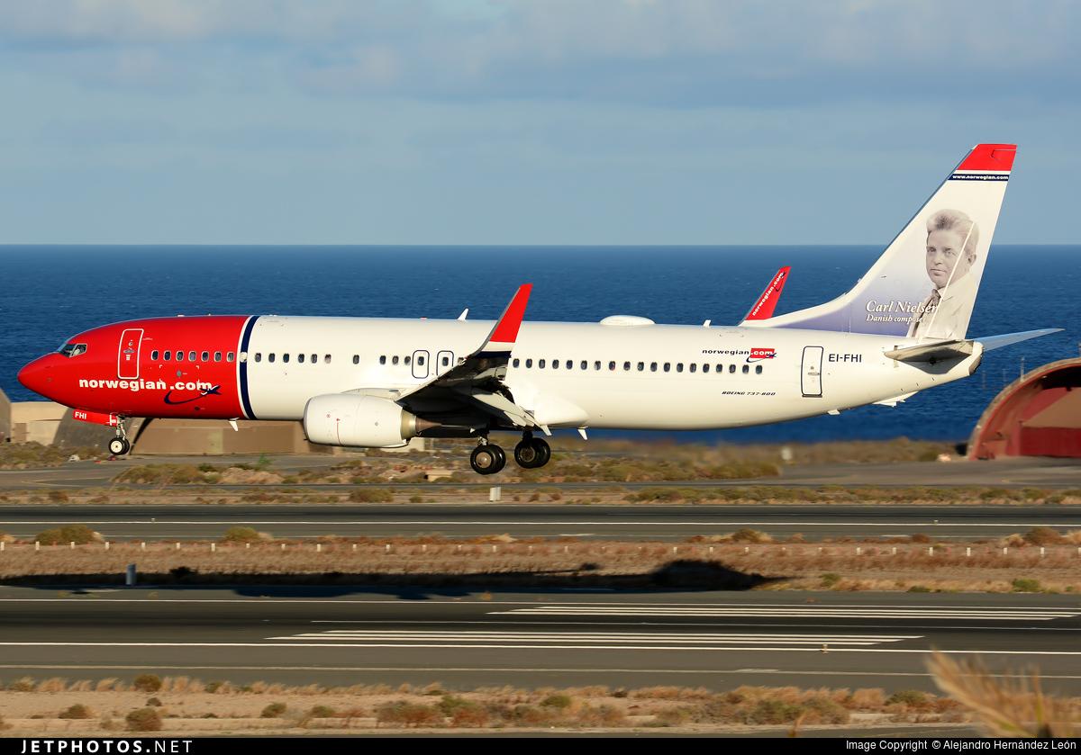 EI-FHI - Boeing 737-8JP - Norwegian
