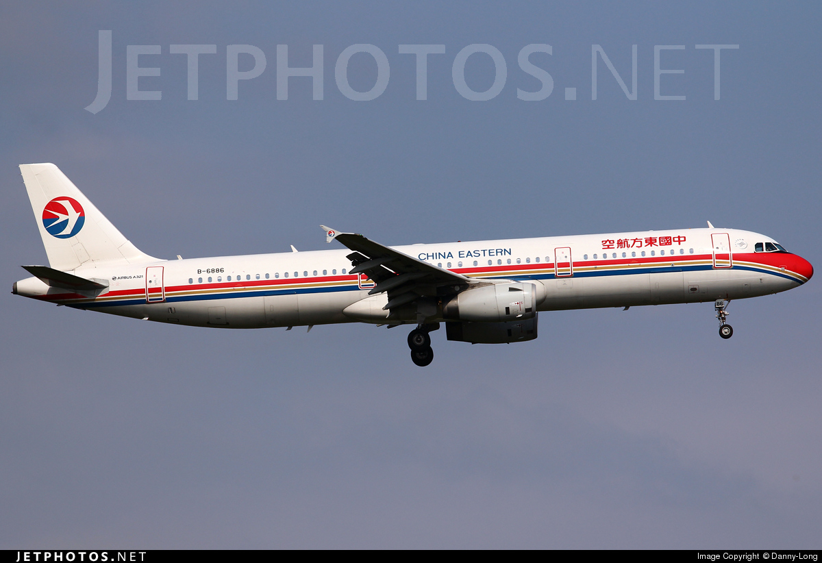 B 6886 airbus a321 231 china eastern airlines danny long jetphotos - China eastern airlines vietnam office ...