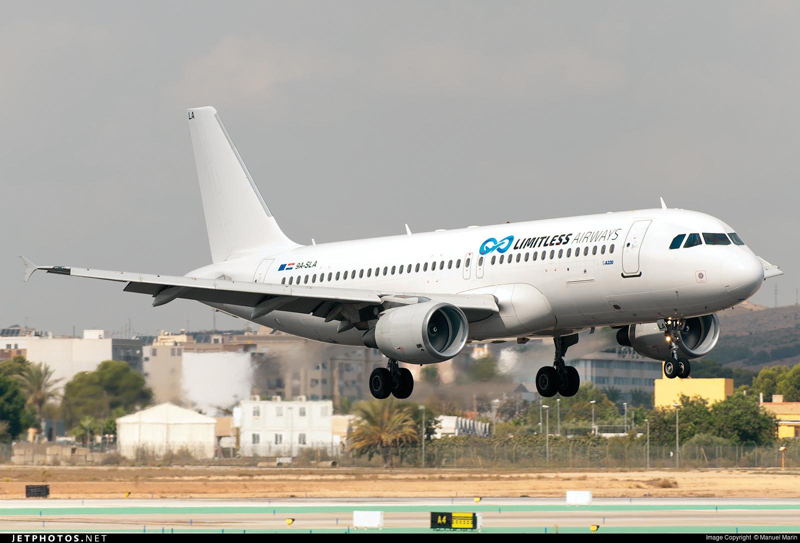 9A-SLA - Airbus A320-214 - Limitless Airways
