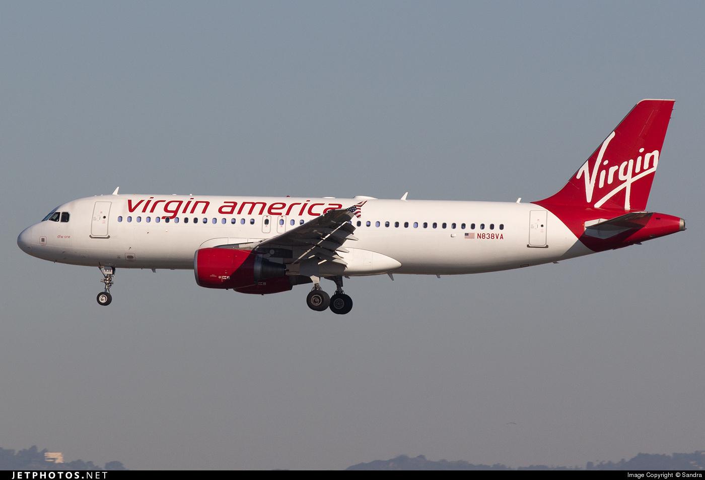 N838VA - Airbus A320-214 - Virgin America