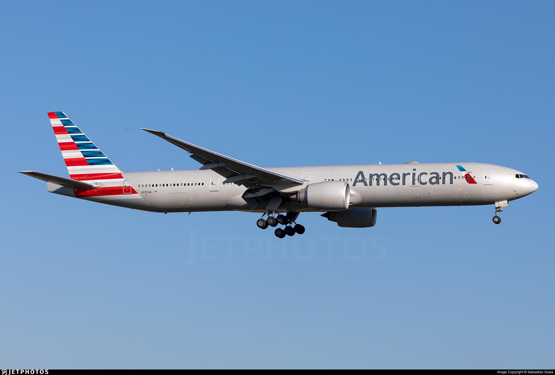 N727an Boeing 777 323er American Airlines Sebastian