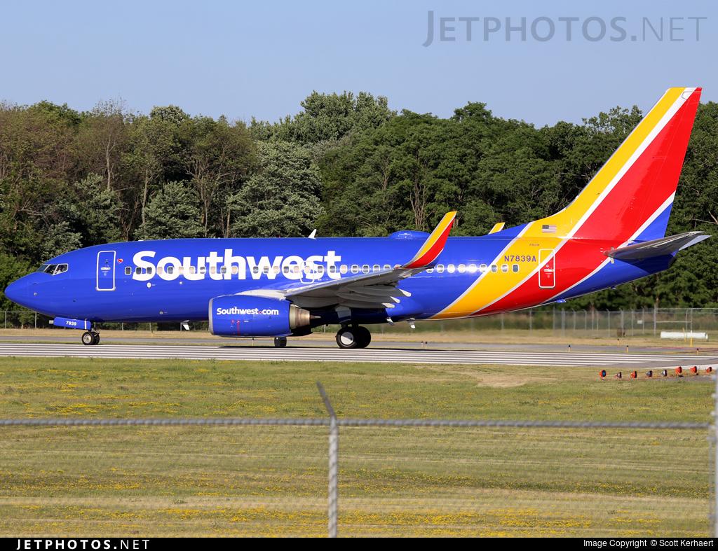N7839A - Boeing 737-73V - Southwest Airlines