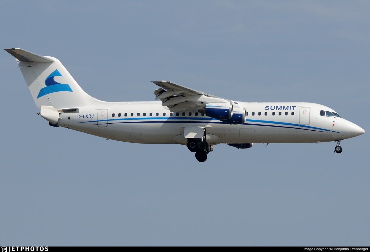 C-FXRJ - British Aerospace Avro RJ100 - Summit Airlines