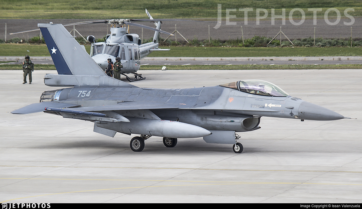 754 - General Dynamics F-16AM Fighting Falcon - Chile - Air Force