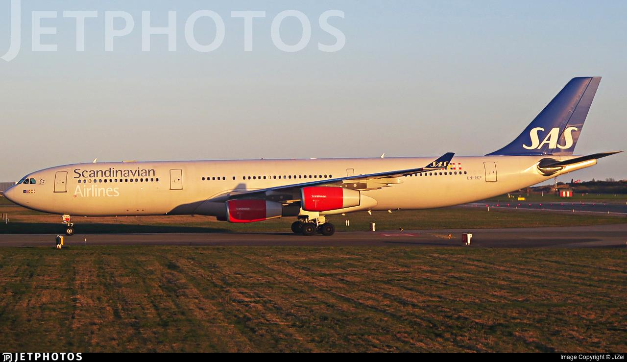 LN-RKP - Airbus A340-313X - Scandinavian Airlines (SAS)