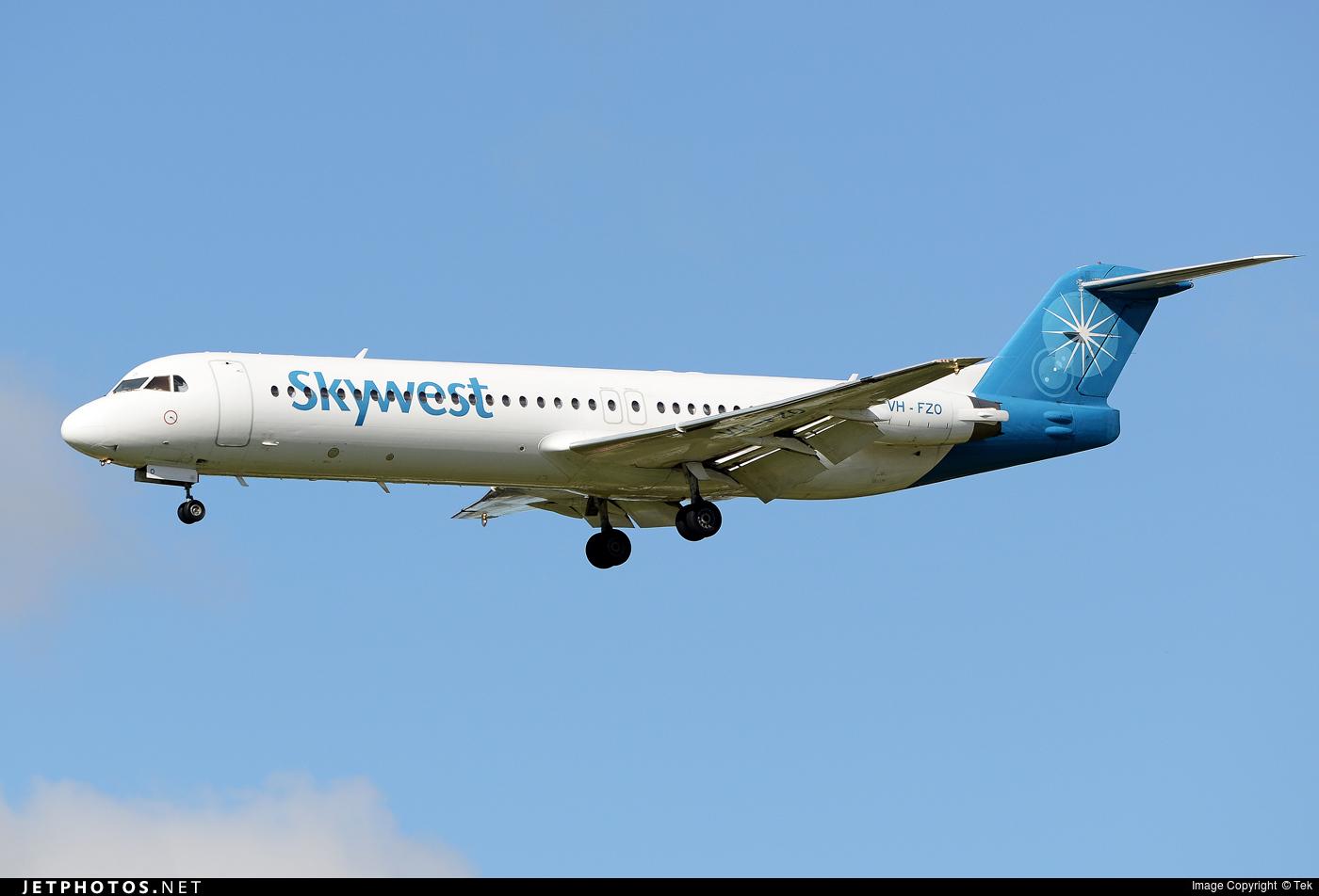 VH-FSW - Skywest Airlines (Australia) Fokker 100 at Perth, WA ...