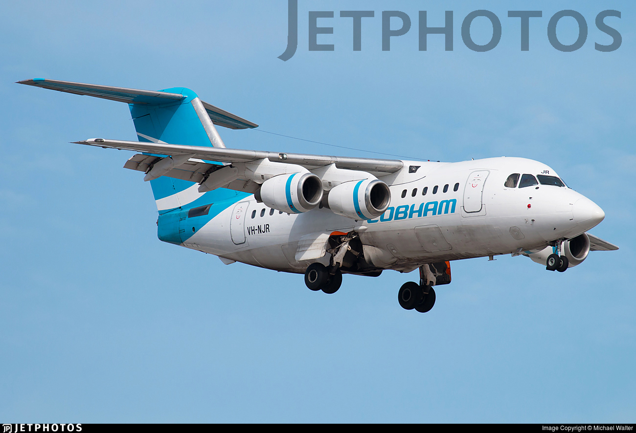 VH-NJR - British Aerospace BAe 146-100 - Cobham Aviation Services Australia