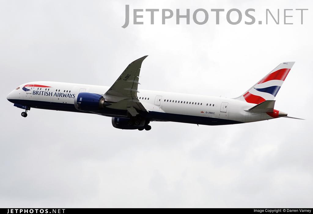 G-ZBKC - Boeing 787-9 Dreamliner - British Airways