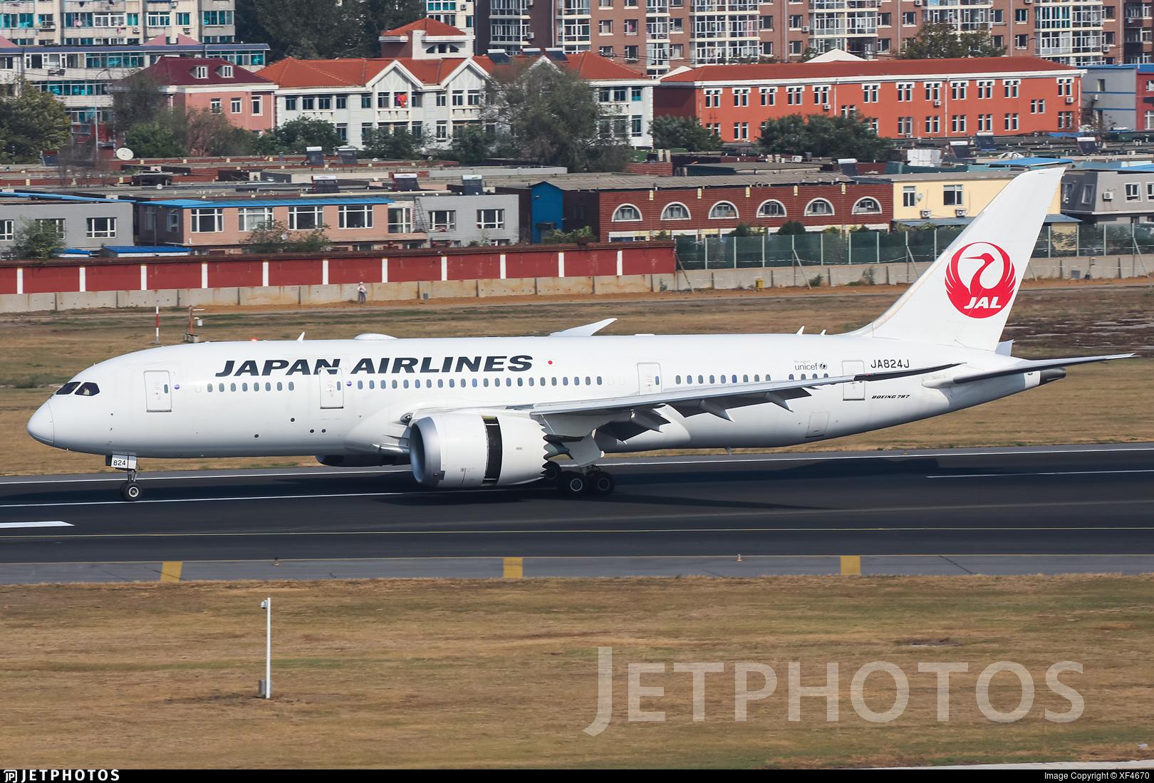 JA824J - Boeing 787-8 Dreamliner - Japan Airlines (JAL)