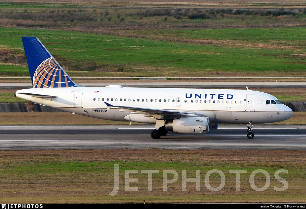 N822UA - Airbus A319-131 - United Airlines