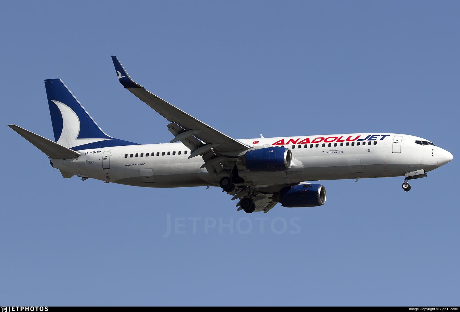 TC-SBN - Boeing 737-86N - AnadoluJet