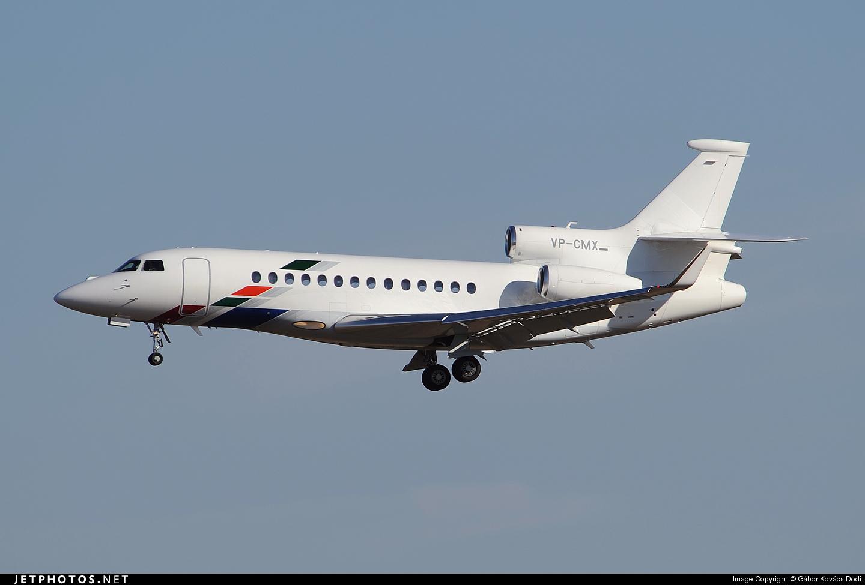 VP-CMX - Dassault Falcon 7X - VW Air Services
