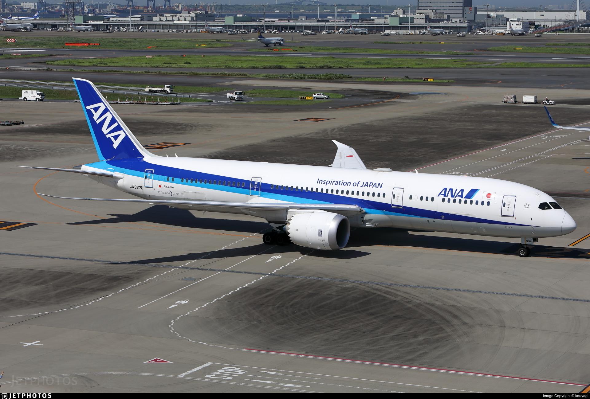 JA932A - Boeing 787-9 Dreamliner - All Nippon Airways (Air Japan)