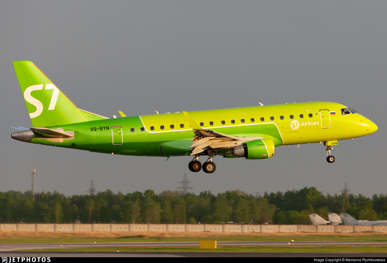 VQ-BYN - Embraer 170-100SU - S7 Airlines