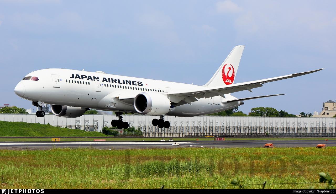 JA847J - Boeing 787-8 Dreamliner - Japan Airlines (JAL)
