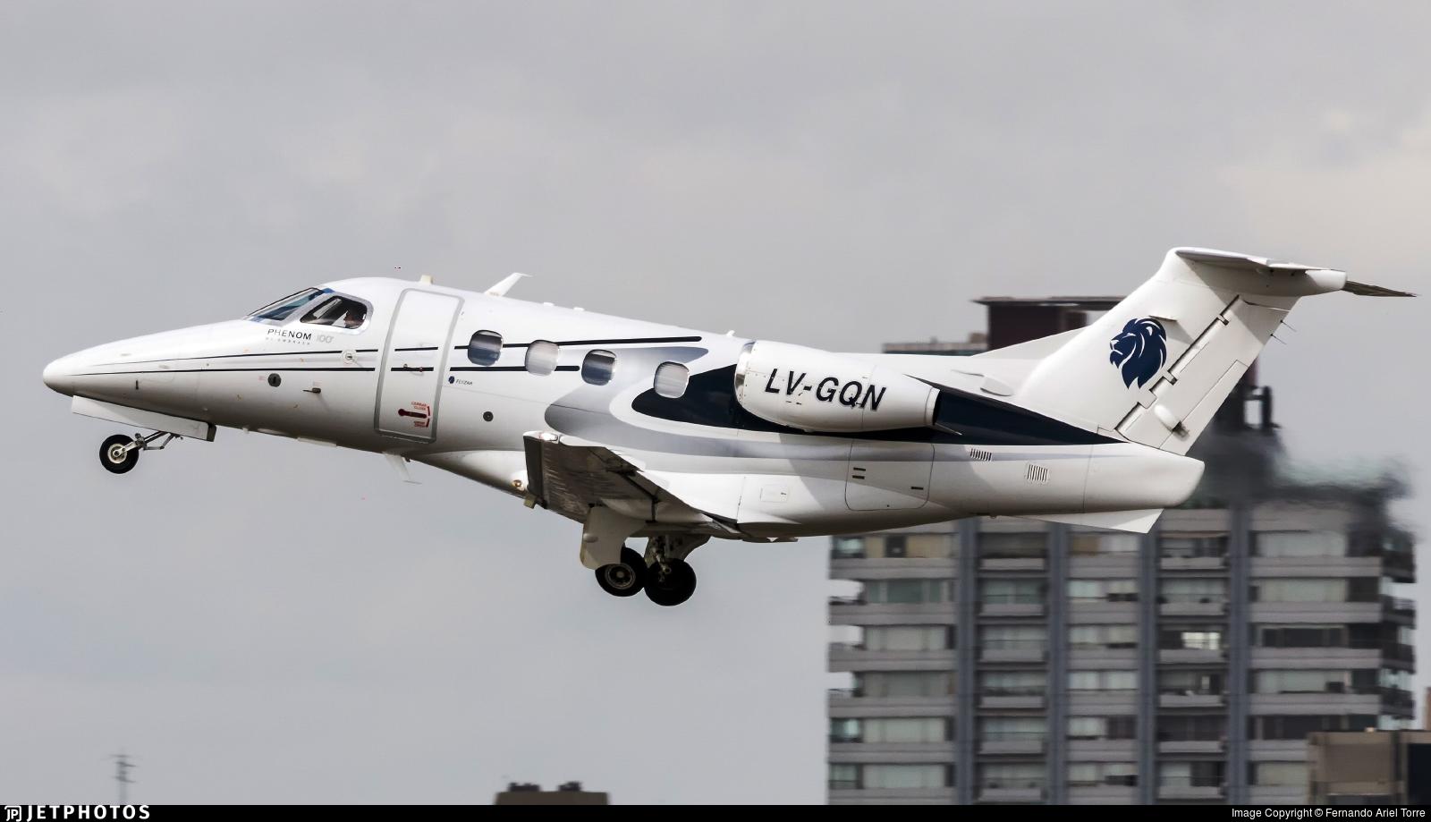 LV-GQN - Embraer 500 Phenom 100 - Private