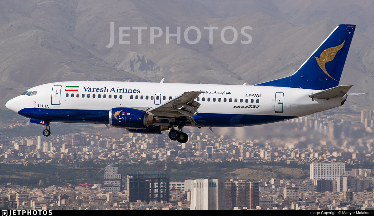 EP-VAI - Boeing 737-31S - Varesh Airlines