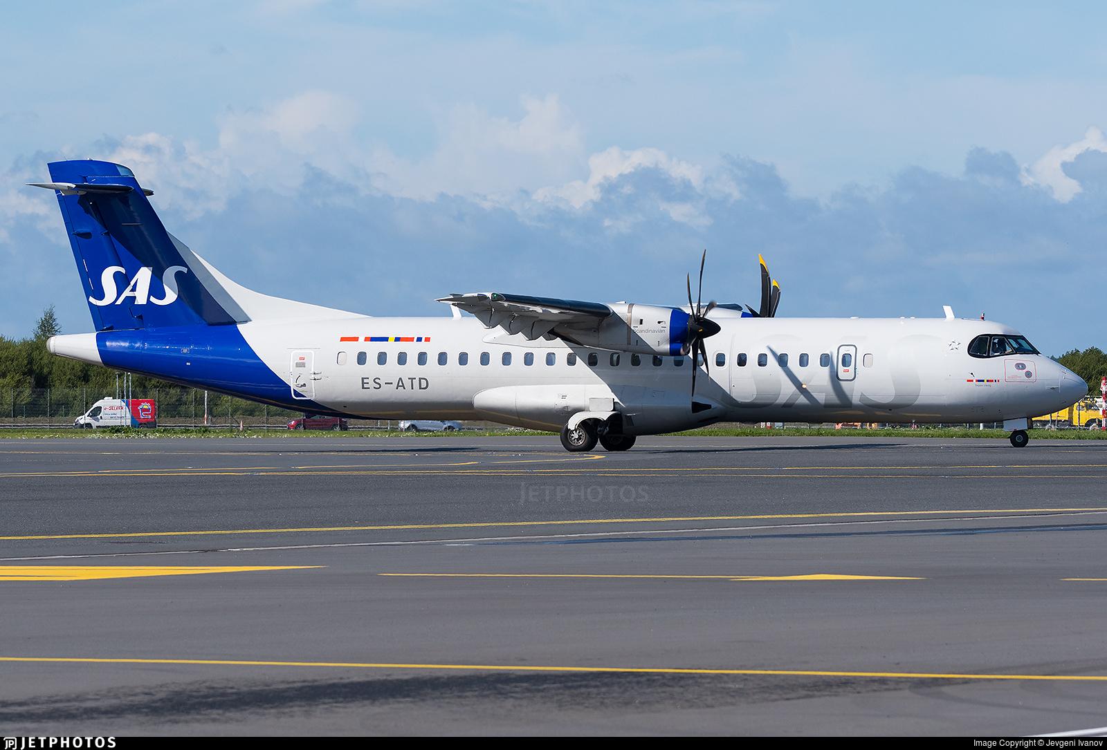 ES-ATD - ATR 72-212A(600) - Scandinavian Airlines (Xfly)