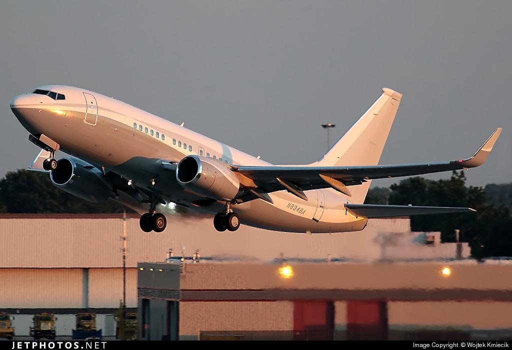 N834BA - Boeing 737-73Q(BBJ) - Boeing Executive