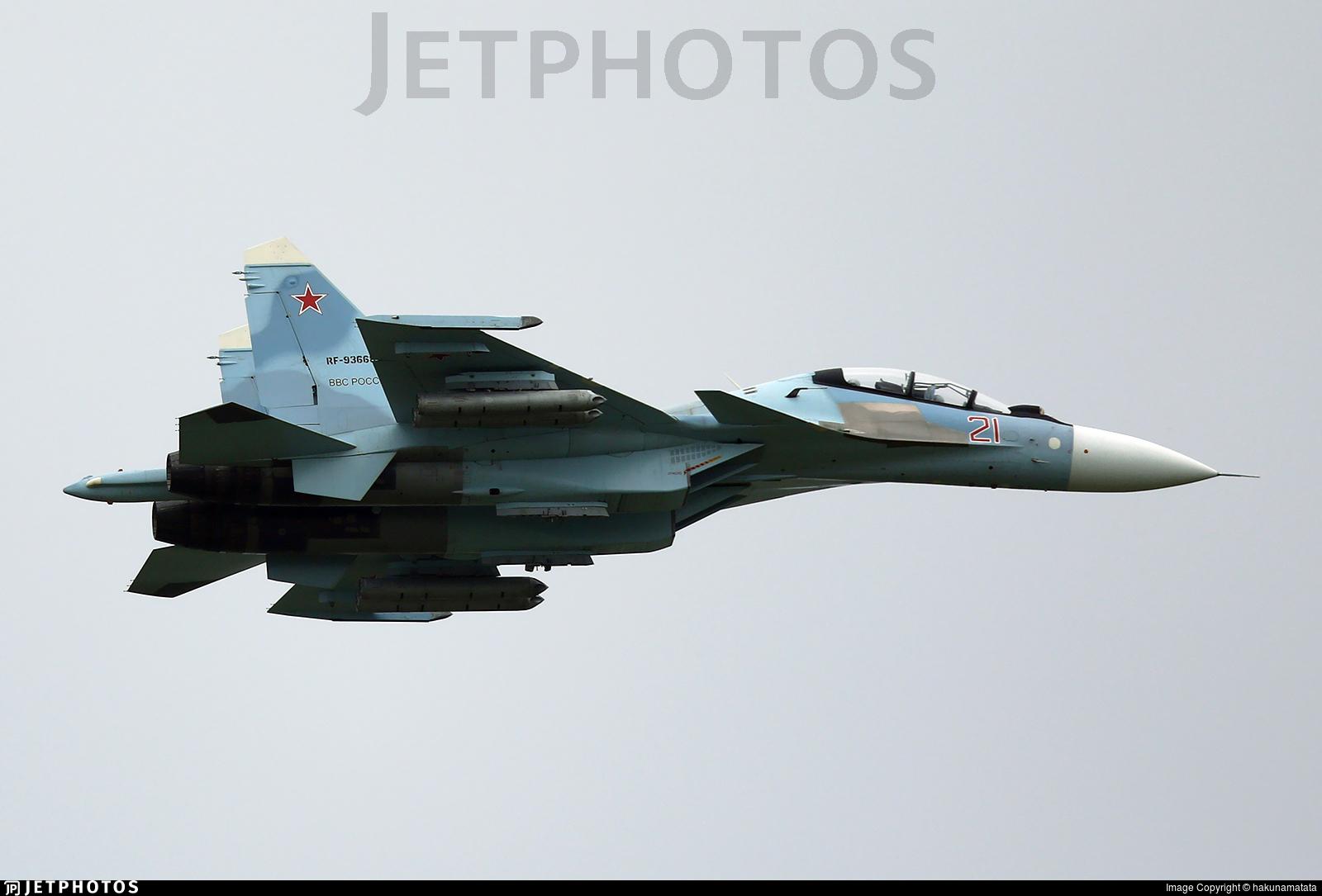 RF-93668 - Sukhoi Su-30SM - Russia - Air Force